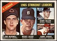 Sam McDowell, Mickey Lolich, Denny McLain, Sonny Siebert [GD+]