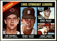 Sam McDowell, Mickey Lolich, Denny McLain, Sonny Siebert [EX]