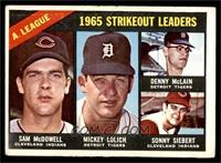Sam McDowell, Mickey Lolich, Denny McLain, Sonny Siebert [VG]