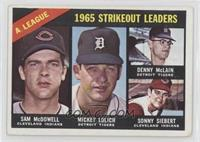 Sam McDowell, Mickey Lolich, Denny McLain, Sonny Siebert [Good to VG&…