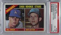 1966 Rookie Stars - Bill Singer, Don Sutton [PSA6EX‑MT]