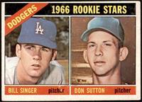 1966 Rookie Stars - Bill Singer, Don Sutton [VGEX]