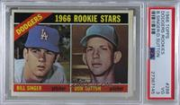 Dodgers Rookies (Bill Singer, Don Sutton) [PSA 3 VG]