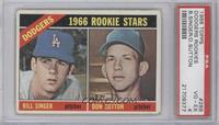Dodgers Rookies (Bill Singer, Don Sutton) [PSA4]