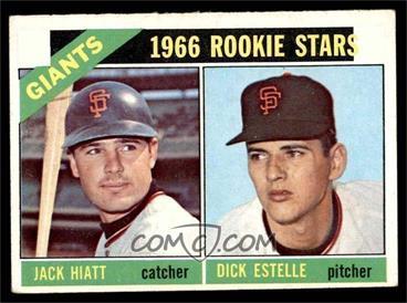 1966 Topps - [Base] #373 - 1966 Rookie Stars - Jack Hiatt, Dick Estelle [EX]