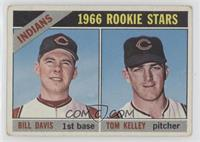 1966 Rookie Stars - Bill Davis, Tom Kelley [Poor to Fair]