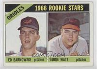 1966 Rookie Stars - Ed Barnowski, Eddie Watt [Good‑VeryGood]