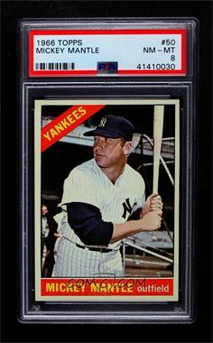 1966 Topps - [Base] #50 - Mickey Mantle [PSA 8 NM‑MT]