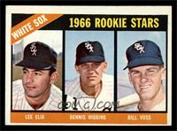 White Sox Rookies (Lee Elia, Dennis Higgins, Bill Voss) [EX]