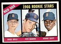 Red Sox Rookies (Guido Grilli, Pete Magrini, George Scott) [VG]