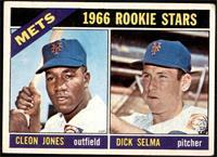 1966 Rookie Stars - Cleon Jones, Dick Selma [GD+]