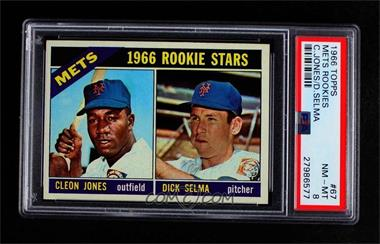 1966 Topps - [Base] #67 - 1966 Rookie Stars - Cleon Jones, Dick Selma [PSA 8 NM‑MT]