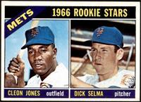 1966 Rookie Stars - Cleon Jones, Dick Selma [VG]