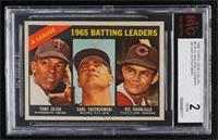 1965 AL Batting Leaders (Tony Oliva, Carl Yastrzemski, Vic Davalillo) [BVG…