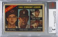 1965 Strikeout Leaders AL (Sam McDowell, Mickey Lolich, Denny McClain, Sonny Si…
