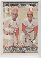 Lou Brock, Curt Flood [Good to VG‑EX]