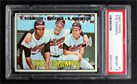The Champs (Frank Robinson, Hank Bauer, Brooks Robinson) [PSA 8 NM…