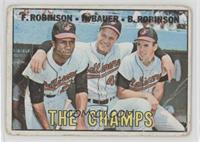 The Champs (Frank Robinson, Hank Bauer, Brooks Robinson) [Poor]