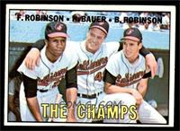 The Champs (Frank Robinson, Hank Bauer, Brooks Robinson) [EX]