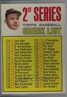 2nd Series Checklist (Mickey Mantle) (Period in #170 D. Mcauliffe streaked) [Go…
