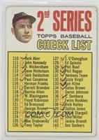 2nd Series Checklist (Mickey Mantle) (Period in #170 D. Mcauliffe streaked) [Po…