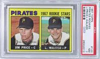 Pirates 1967 Rookie Stars (Jim Price, Luke Walker) [PSA7]
