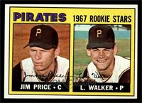 Pirates 1967 Rookie Stars (Jim Price, Luke Walker) [NM]