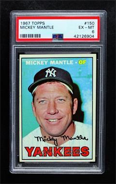1967 Topps - [Base] #150 - Mickey Mantle [PSA6EX‑MT]
