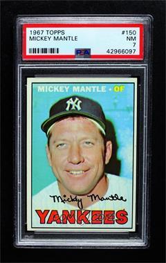 1967 Topps - [Base] #150 - Mickey Mantle [PSA7NM]
