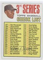3rd Series Checklist (Willie Mays) (Error: 214 is Dick Kelley) [Poor to&nb…