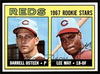1967 Rookie Stars - Darrell Osteen, Lee May [NM]