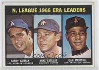 Sandy Koufax, Mike Cuellar, Juan Marichal [Good to VG‑EX]