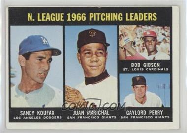 1967 Topps - [Base] #236 - N. League Pitching Leaders (Sandy Koufax, Juan Marichal, Bob Gibson, Gaylord Perry)