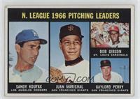 N. League Pitching Leaders (Sandy Koufax, Juan Marichal, Bob Gibson, Gaylord Pe…