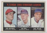 A. League Strikeout Leaders (Sam McDowell, Jim Kaat, Earl Wilson) [Poor]