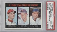A. League Strikeout Leaders (Sam McDowell, Jim Kaat, Earl Wilson) [PSA 8]