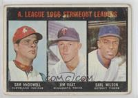 A. League Strikeout Leaders (Sam McDowell, Jim Kaat, Earl Wilson) [Poor to…