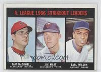 Sam McDowell, Jim Kaat, Earl Wilson [Noted]