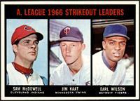 Sam McDowell, Jim Kaat, Earl Wilson [NMMT]