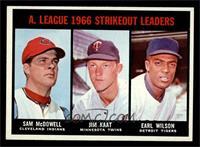 Sam McDowell, Jim Kaat, Earl Wilson [NM]