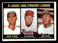 N. League Strikeout Leaders (Sandy Koufax, Jim Bunning, Bob Veale) [GOOD]