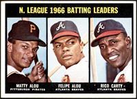 N. League Batting Leaders (Matty Alou, Felipe Alou, Rico Carty) [VGEX]