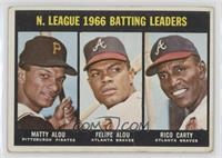 N. League Batting Leaders (Matty Alou, Felipe Alou, Rico Carty) [Poor]