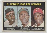 N. League RBI Leaders (Hank Aaron, Roberto Clemente, Richie Allen) [Goodt…