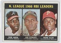 N. League RBI Leaders (Hank Aaron, Roberto Clemente, Richie Allen) [Poort…