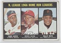 Hank Aaron, Dick Allen, Willie Mays [GoodtoVG‑EX]