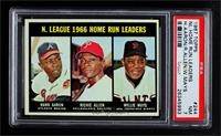 N. League Home Run Leaders (Hank Aaron, Dick Allen, Willie Mays) [PSA 7&nb…