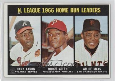 1967 Topps - [Base] #244 - N. League Home Run Leaders (Hank Aaron, Dick Allen, Willie Mays)