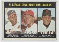 N. League Home Run Leaders (Hank Aaron, Dick Allen, Willie Mays) [Goodto&…