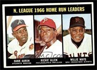 N. League Home Run Leaders (Hank Aaron, Dick Allen, Willie Mays) [EXMT]